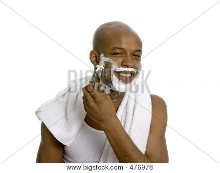 Shaving With A Smile