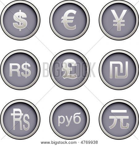 Ícones de moeda internacional