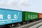 picture of boxcar  - Freight forwarding services - JPG