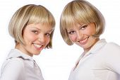 stock photo of sissy  - twin girls - JPG