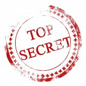 foto of top-secret  - red top secret stamp on a white background - JPG