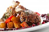foto of lamb  - Grilled Rack of Lamb with Berries Sauce - JPG