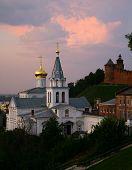 pic of prophets  - Beautiful evening view Church of Elijah the Prophet and Kremlin Nizhny Novgorod  - JPG