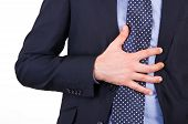 image of gastritis  - Image of Business man suffering from heartburn - JPG