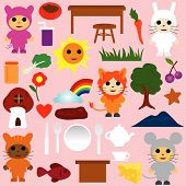 Cartoon Animals Tea Party poster