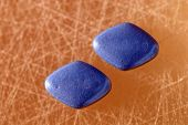 stock photo of viagra  - Two Viagra Pills shown next to each other - JPG