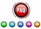 picture of faq  - faq icon set - JPG