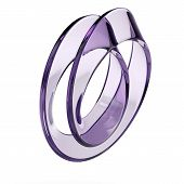 image of mobius  - glass mobius strip isolated on a white background - JPG