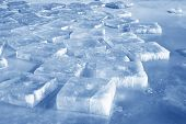 stock photo of frostbite  - ice in the river north china - JPG