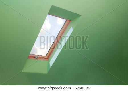 durch das Fenster anzeigen.