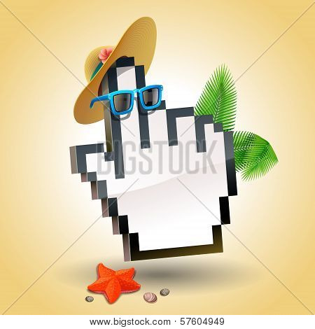 Travel cursor hand icon
