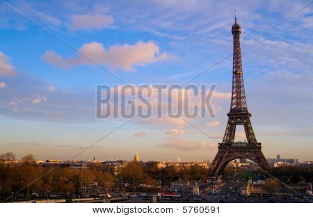 The Eiffel Tower And The Iena Bridge Seen From The Palais Chaillot