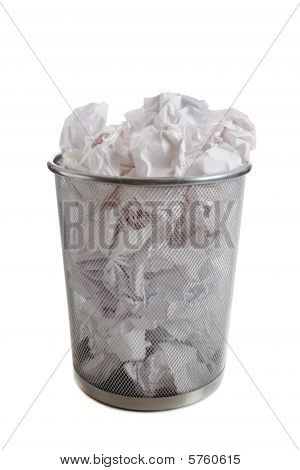 Overflowing Wastebasket
