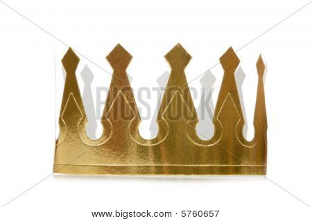 Golden Paper Crown