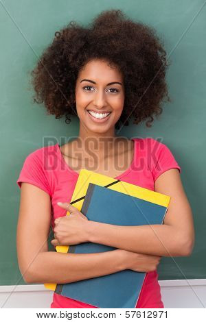 Beautiful Young African American Student
