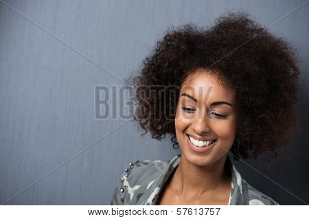 Smiling Young African American Woman