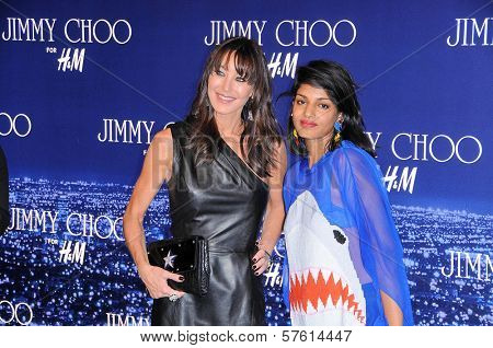 Tamara Mellon and Maya Arulpragasam at the Jimmy Choo For H&M Collection, Private Location, Los Angeles, CA. 11-02-09