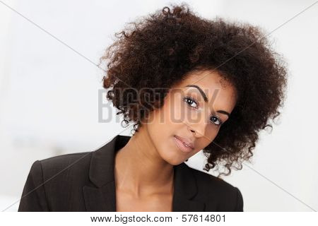 Sceptical African American Businesswoman