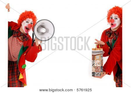 Female Holiday Clown