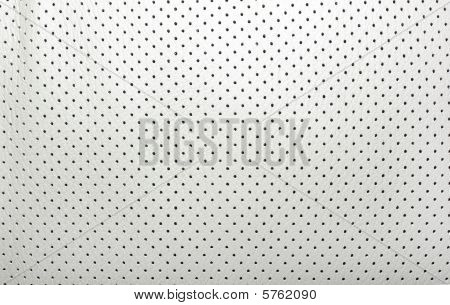 High Quality Perforated Beige Leather. Interior Of Modern Japanese Car. Background Or Backdrop.