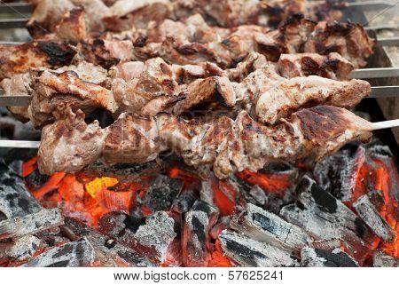 Kebabs On Coals