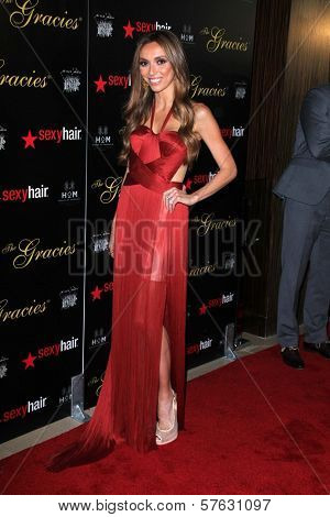 Giuliana Rancic at the 2012 Gracie Awards Gala, Beverly Hilton Hotel, Beverly Hills, CA 05-22-12