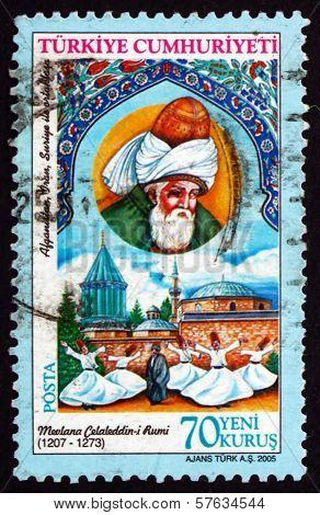 Postage Stamp Turkey 2005 Jalal Ad-din Ar-rumi