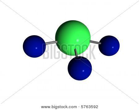 Molécula - amônia - NH3
