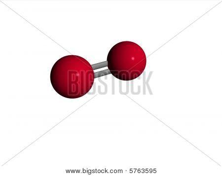 o2 molecule  Molecule - oxygen - O2