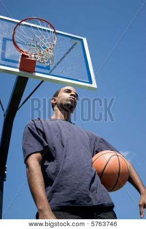 Basketball Player Thinking