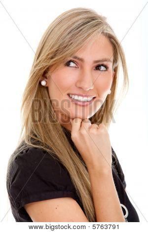 Pensive Business Woman