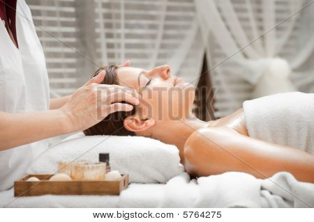 Woman In Spa