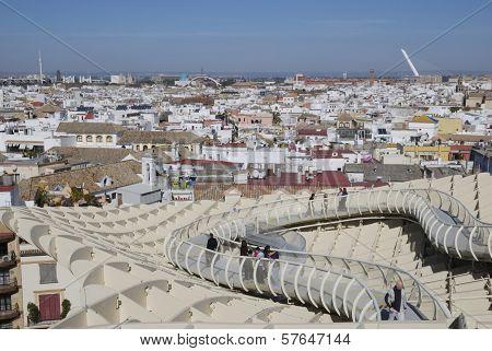 Seville Seen From Metropol Paraso