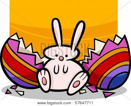 Sweet Easter Bunny Cartoon Illustration