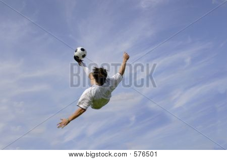 Football - Soccer - Bicycle Kick