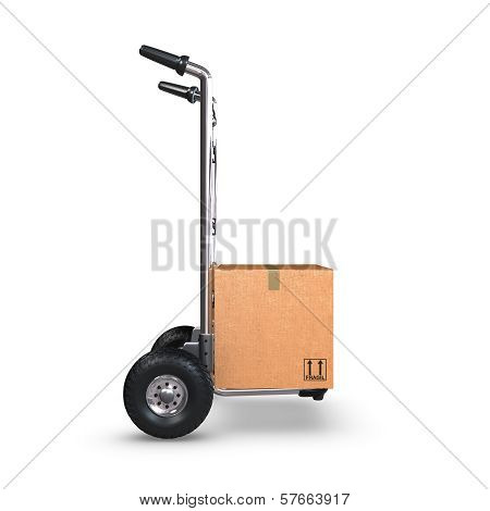 Hand Truck With Box Upright Profile
