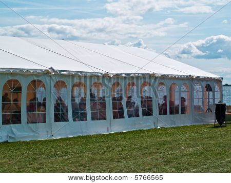 Colorful Events Party Tent By The Sea