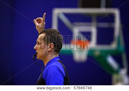 Basketball Referee In Action