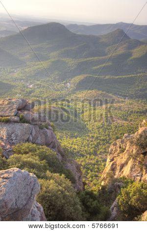 Mediterranean mountainous landscape