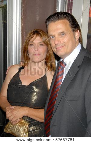 Calista Carradine and Damian Chapa  at the Los Angeles Charity Benefit Premiere of 'Bad Cop'. Fairfax Cinemas, West Hollywood, CA. 07-09-09
