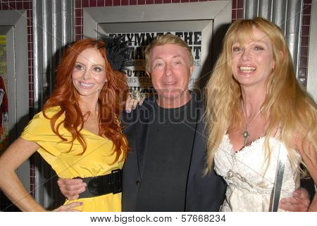 Phoebe Price with Larry Cohen and Laurene Landon  at the Los Angeles Charity Benefit Premiere of 'Bad Cop'. Fairfax Cinemas, West Hollywood, CA. 07-09-09