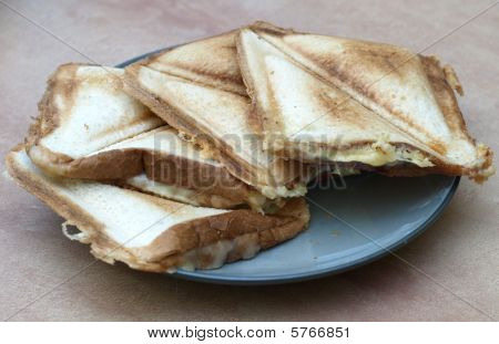 Cheese Toast Sandwich Plate