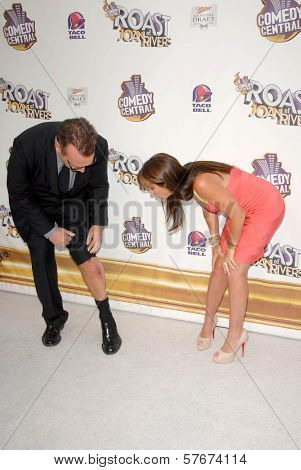 Tom Arnold and Melissa Rivers at Comedy Central's Roast of Joan Rivers. CBS Studios, Los Angeles, CA. 07-26-09
