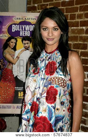 Pooja Kumar at the Los Angeles Premiere of 'Bollywood Hero'. Cinespace, Hollywood, CA. 07-27-09