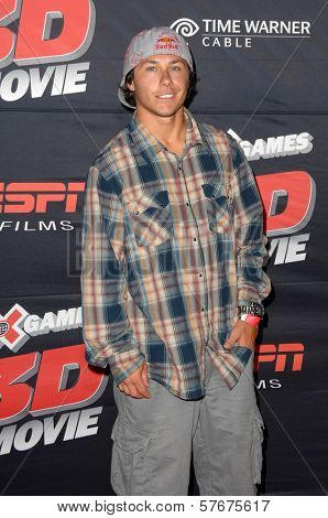 Simon Dumont at the Los Angeles Premiere of 'XGames 3D - The Movie'. Nokia Theatre, Los Angeles, CA. 07-30-09