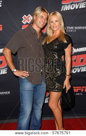 Cale Hulse and Gena Lee Nolin at the Los Angeles Premiere of 'XGames 3D - The Movie'. Nokia Theatre, Los Angeles, CA. 07-30-09