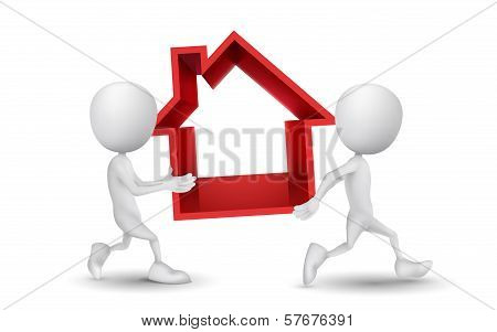 Two People Carried The House