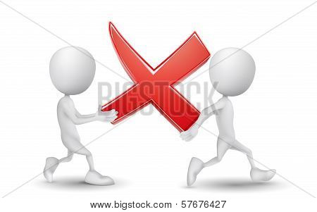 Two People Carried A Rejected Mark