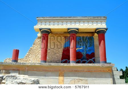 Archaeological site of Knossos. Minoan Palace. Crete.