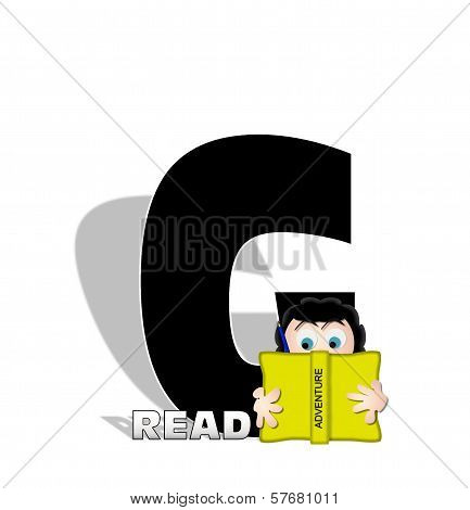 Alphabet Absorbed In Reading G